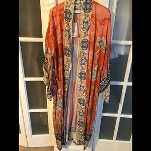 NWT Spell Cherry Blossom Kimono S no tie